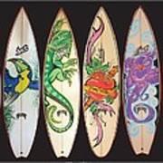 Surfboards Art Jungle Poster