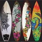 Surfboards Art Jungle2 Poster