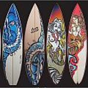 Surfboards Art Poster