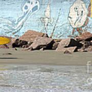 Surfer Beach 1034b Poster