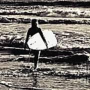 Surfer Girl Poster by Scott Allison