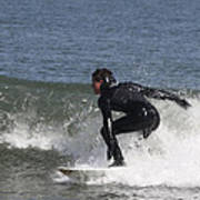 Surfer Hitting The Curl Poster