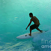Surfer In The Zone Poster