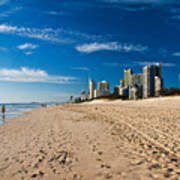 Surfers Paradise Beach By Day Poster