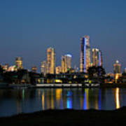 Surfers Paradise By Night Poster
