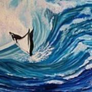 Surfing Stingray II Poster