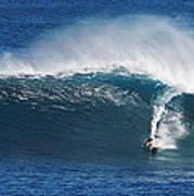 Surfing Waimea Bay Poster
