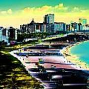 Surreal Colors Of Miami Beach Florida Poster