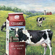 Surreal Cow Poster