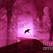 Surreal Fantasy Gothic Raven Crow Nature Poster