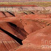 Surreal Red Landscape Poster