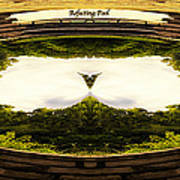 Surreal Reflecting Pool Poster