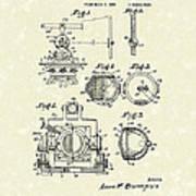 Surveying Instrument 1933 Patent Art Poster