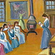 Susan B. Anthony Teaching In Canajoharie Poster