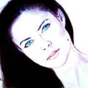 Susan Ward Blue Eyed Beauty With A Mole II Poster