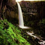 Svartifoss Waterfall, Skaftafell Poster