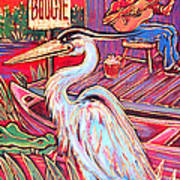 Swamp Boogie Poster by Robert Ponzio