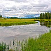 Swan Lake In Grand Teton National Park-wyoming  Poster
