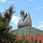Swan Resort Statue Walt Disney World Poster