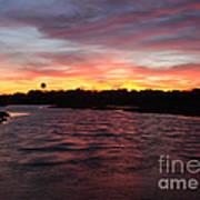 Swan River Sunset Poster