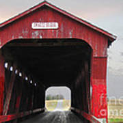 Swartz Covered Bridge Ohio Poster