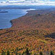 Sweeping Fall Panorama Over Lake Memphremagog Poster