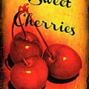 Sweet Cherries - Kitchen Art Poster