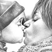Sweet Kiss Poster by Natasha Denger