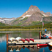 Swiftcurrent Lake Poster