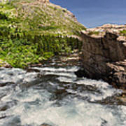 Swiftcurrent River At Many Glacier Poster