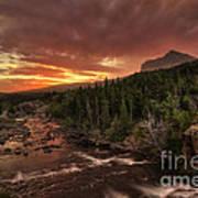 Swiftcurrent River Sunrise Poster