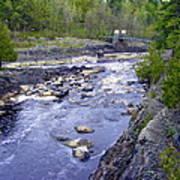 Swing Bridge Over The River Poster