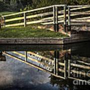 Swing Bridge Reflected Poster