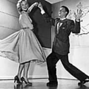 Swing Dancing Couple Poster