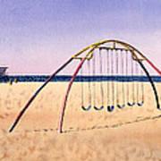 Swingset On Beach Poster