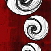 Swirling Round Poster