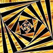Swirling Spirals Poster