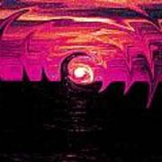 Swirling Sunset In Fuchsia  Poster