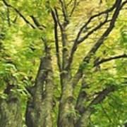 Swirls Of Green Poster