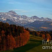 Swiss Alpine Scene Poster