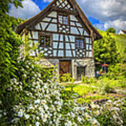 Swiss Chalet In The Garden Poster by Debra and Dave Vanderlaan