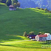 Swiss Farm House Poster