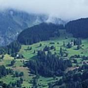 Swiss Mountain Village Poster