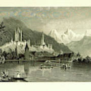 Switzerland. Illustrated In A Series Of Views Taken Poster