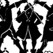 Sword Duel Silhouette  Poster