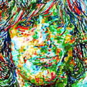 Syd Barrett - Watercolor Portrait Poster