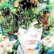 Syd Barrett Watercolor Portrait.1 Poster