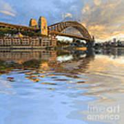 Sydney Harbour Bridge Australia Spectacular Early Morning Light Poster