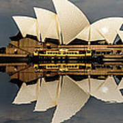 Sydney Opera House With Clouds Poster