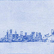 Sydney Skyline Blueprint Poster by Kaleidoscopik Photography